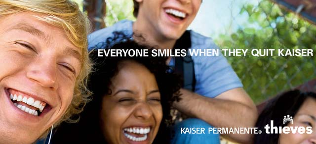 Kaiser Permanente Thrive Thieves Ad Parody - Smiles